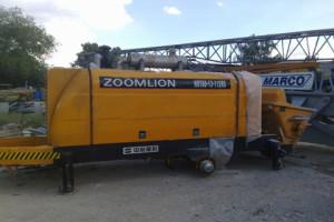 производительность мини бетононасоса Zoomlion