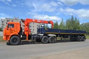 седельный тягач КамАЗ 53504 с маниаулятором