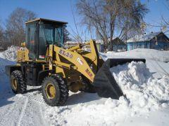 уборка снега с помощью Shanlin ZL 20
