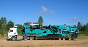 powerscreen chieftain 2100 транспортировка