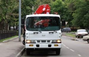 грузовик hyundai hd 120 с КМУ