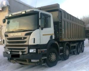Шарнирно-сочлененный самосвала Scania P8X400
