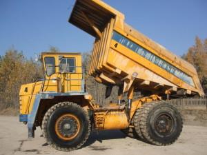БелАЗ 7547 подъем кузова