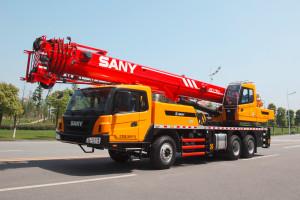 Автокран Sany QY25C с вертикальной и горизонтальной системой опор