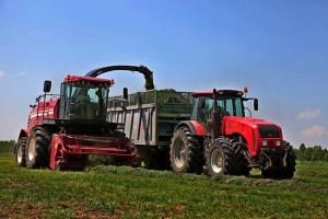 трактор мтз 3022 с прицепом