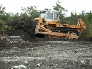 бульдозер т-330 в работе