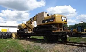 экскаватор caterpillar 320  вариант транспортировки