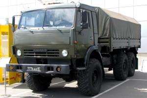 Военный КамАЗ 5350 с бронированной кабиной