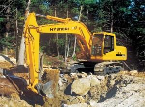 экскаватор hyundai r210lc 7 разработка траншеи