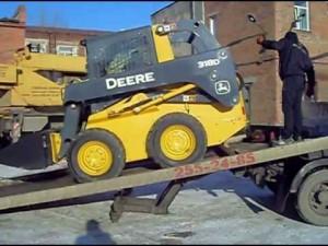 погрузчик dohn deere 318 d транспортировка
